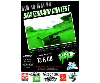 Contest PLAY Skateshop 2008 - contest skate Bziers