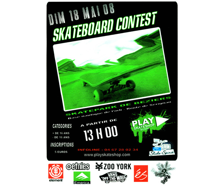 Contest PLAY Skateshop 2008 - contest skate Béziers
