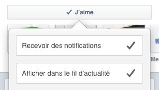recevoir les notifications Facebook