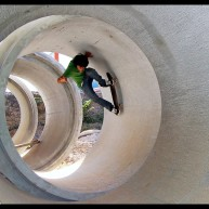Jutix - wall to fackie fullpipe Polygone Béziers