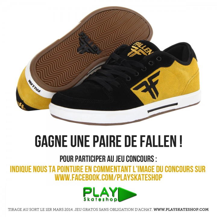 Jeu concours Fallen Footwear - février 2014