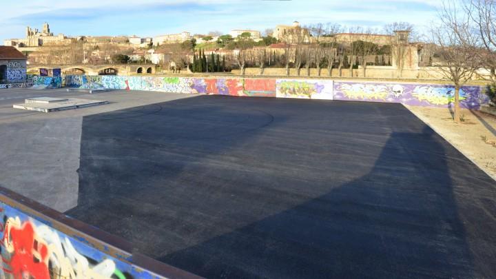 L'extension du skatepark de Béziers en 2015