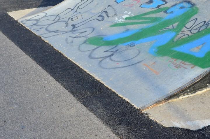 Jointures rénovées au skatepark de Béziers