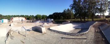 Skatepark de Capestang construction 2015 avancement des travaux