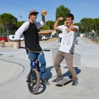 Damien Souchet BMXeur et Marc Gerard SKATEur