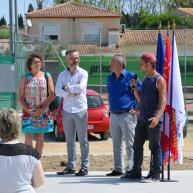 Discours de Bryan président association Dream Ride - inauguration skatepark de Capestang