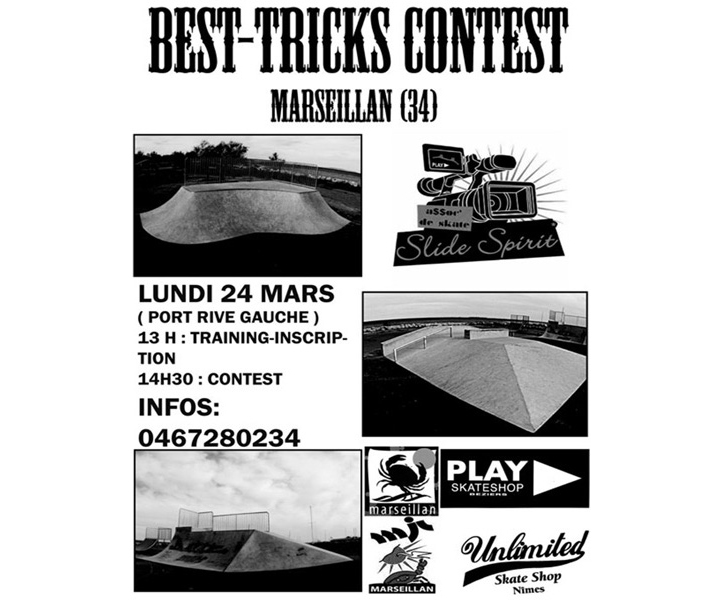 Contest de skate Best tricks 2008 Marseillan