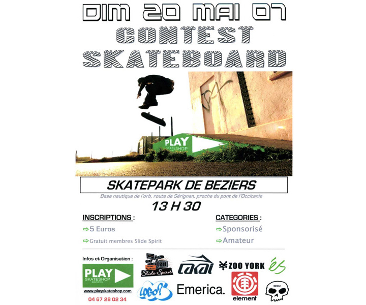 contest de skate PLAY Skateshop 2007