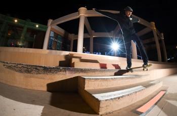 Backtail sur le spot de skate Odysseum Montpellier Bastien Regeste