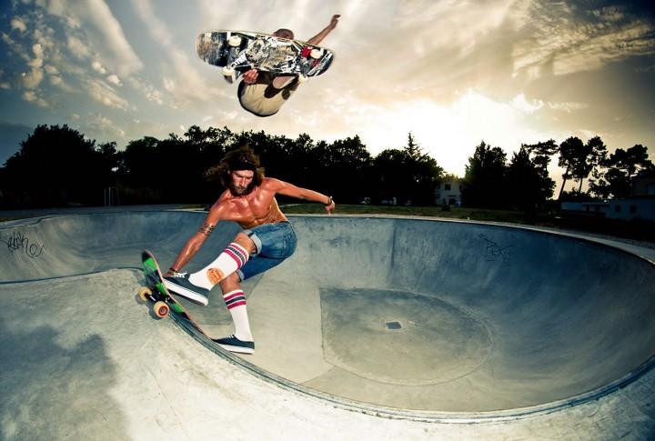 Skateurs Adrien Marco et Anthony Mura - stalefish par Guillaume Bièche photographe