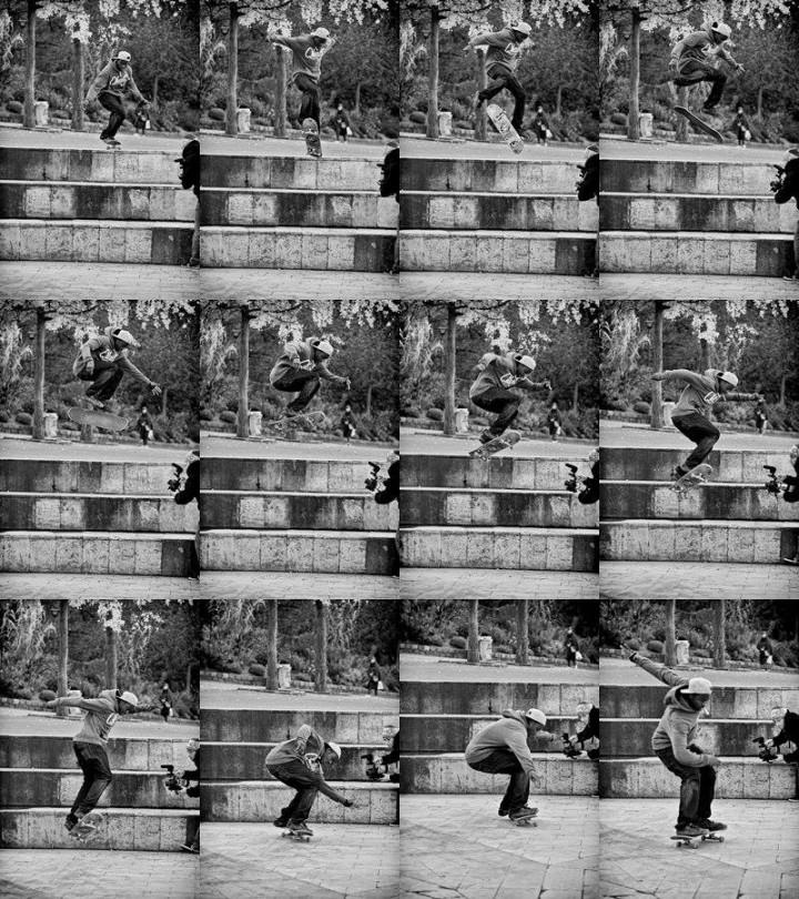 Hardflip d'Agbam skateboarder USK