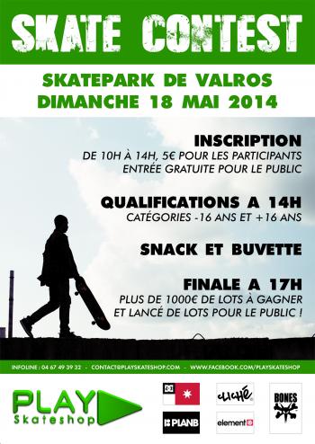 Contest PLAY Skateshop 2014 Skatepark Valros