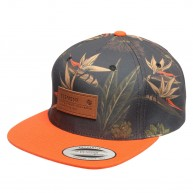 element-verdant-cap-camo-orange-fluo-casquette-snapback