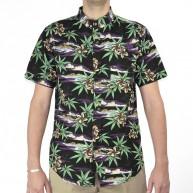 globe-paca-shirt-vintage-black-cannabis-chemise-a-manches-courtes