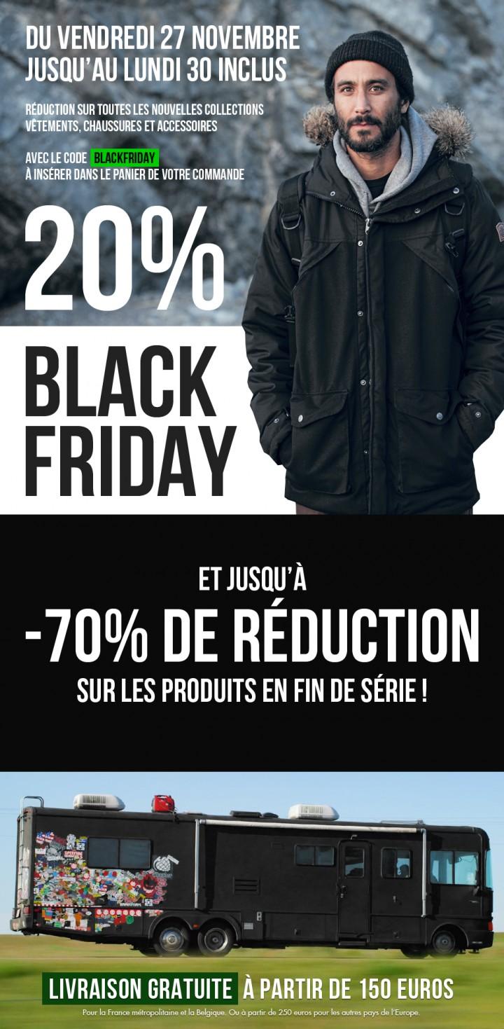 Black Friday - coupon de -20% de réduction sur toutes les nouveautés pour vos cadeaux de Noël !