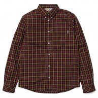 Sims Shirt (brown black burgundy)