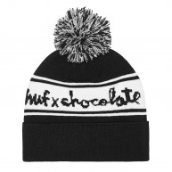 huf-x-chocolate-chunk-pom-bonnet-a-pompom-noir-rouge